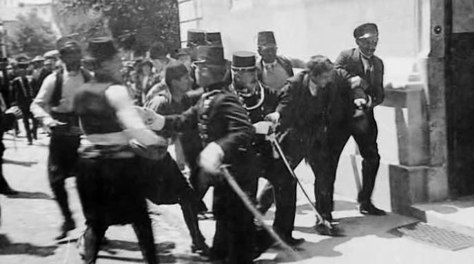 Momento da prisão de Princip